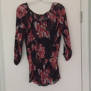 Sheer floral blouse by INC
